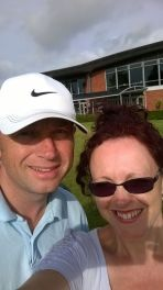 andy and Kate at golf