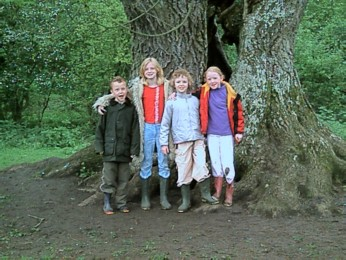 kids at forest near burghley